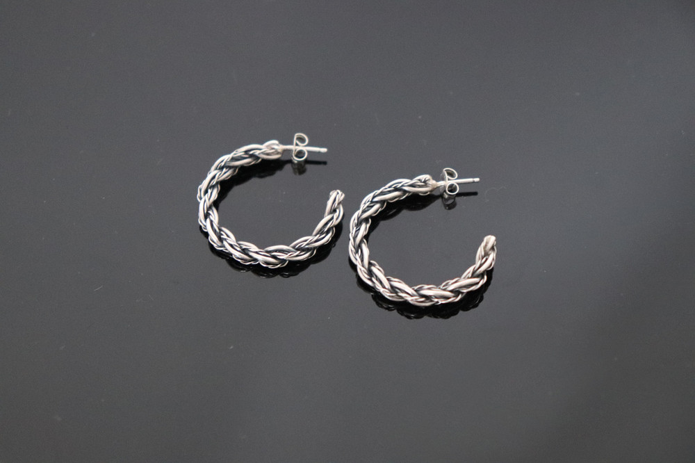 Haba Sterling Silver Rope Earrings