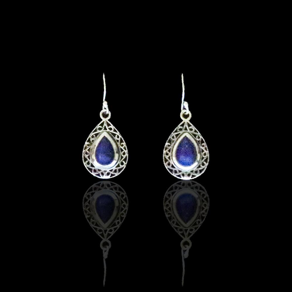 Blue Lapis Teardrop Earrings