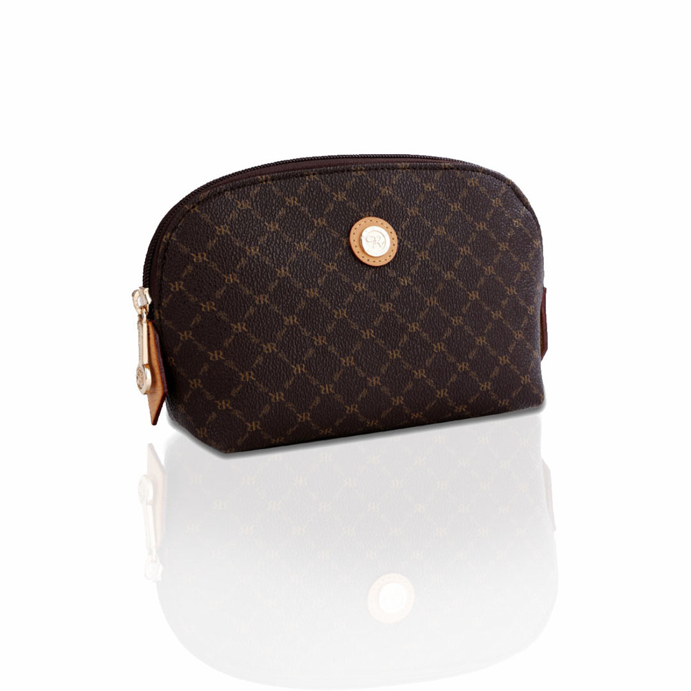 Rioni Brown Signature Small Cosmetic Pouch