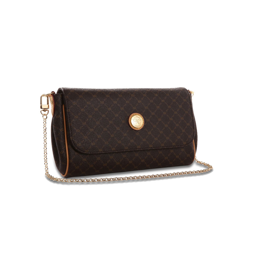 Rioni Brown Signature Elle Shoulder/Clutch Baguette Bag