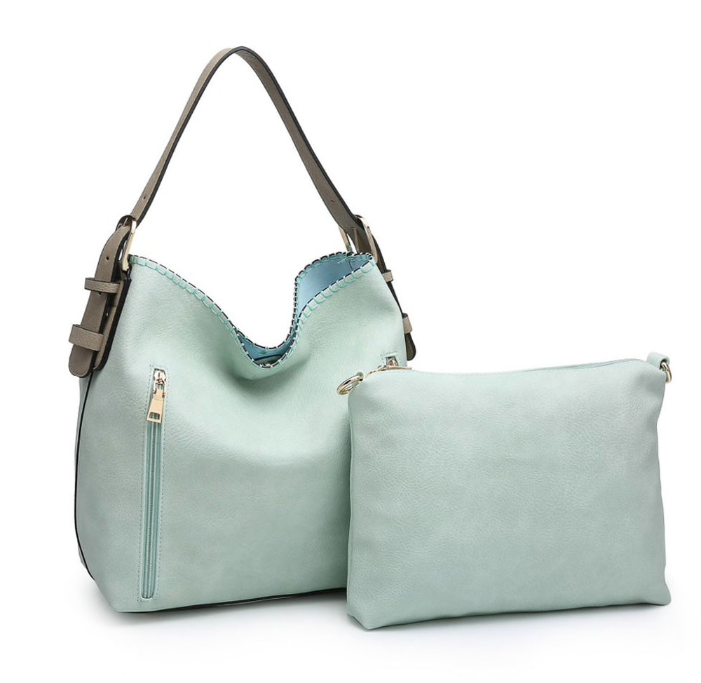Concealed Carry Tote & Crossbody Set -  Seafoam