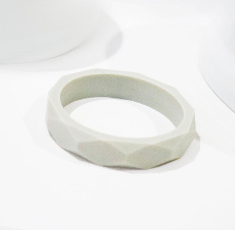 Capri Silicone Teething Bracelet - Grey