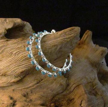 Pelipa Classic Turquoise Hoop Earnings