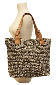 Charlotte Heathered Crochet Tote