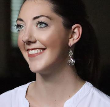 Green Amethyst & Sterling Silver Florette Dangle Earrings