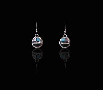 Fala Sunface Sterling Silver & Multi-Stone Inlay Earrings