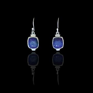Blue Lapis Square Earrings