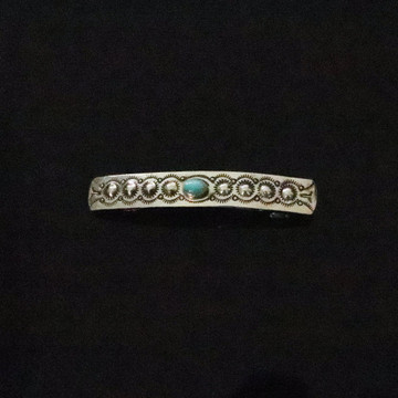 Haba Sterling Silver & Turquoise Barrette Large