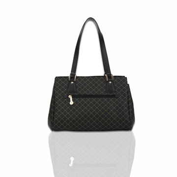 Rioni Black Signature East-West Shoulder Bag