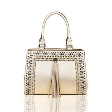 Montana West Soft Gold Concealed Carry Crossbody Satchel