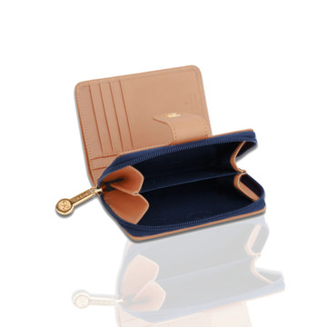 Rioni Navy Signature Small Zipper Wallet