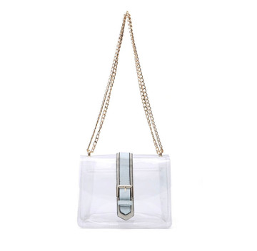 2-In-1 Clear Crossbody & Cosmetic Bag - Soft Blue