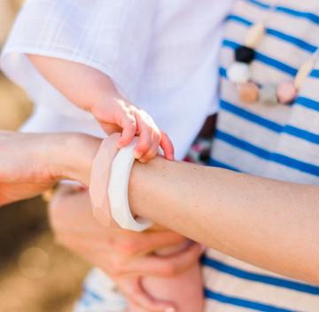 Capri Silicone Teething Bracelet - Blush