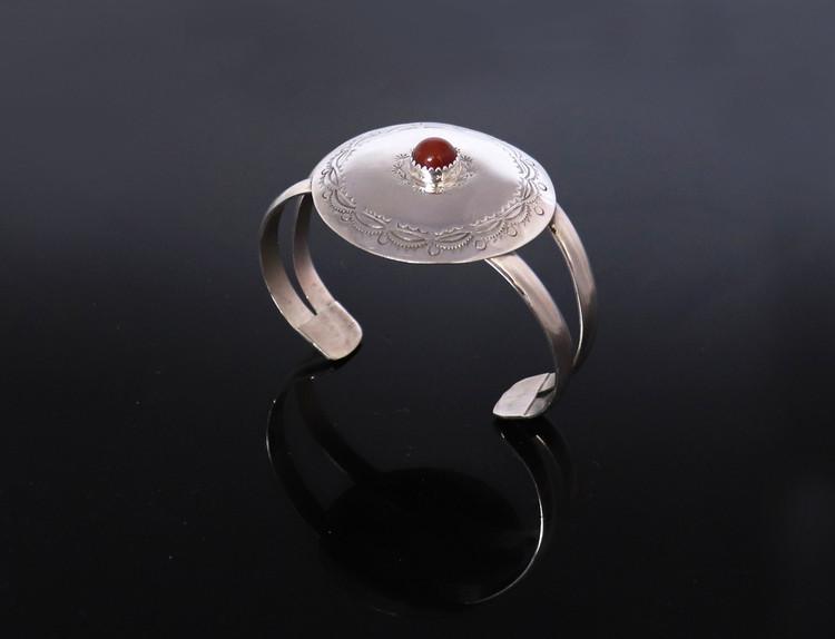 Doli Sterling Silver/Coral Medallion Bracelet