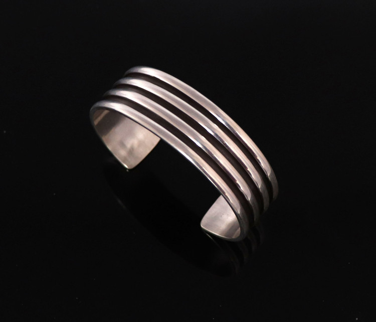 Haba Ribbed Sterling Silver Cuff Bracelet