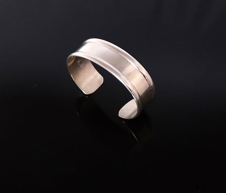 "Aiyana Sterling Silver Cuff Bracelet 3/4"""