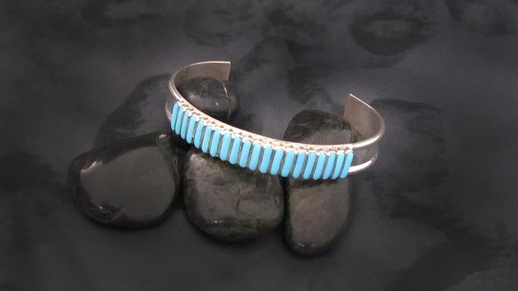 Pelipa Sterling Silver & Turquoise Needlepoint Bracelet