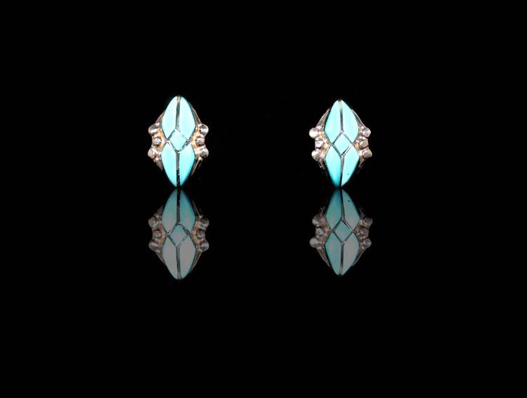 Fala Turquoise & Sterling Silver Earrings