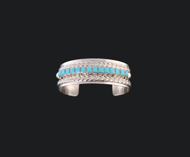 Bila Turquoise & Sterling Silver Cuff Bracelet