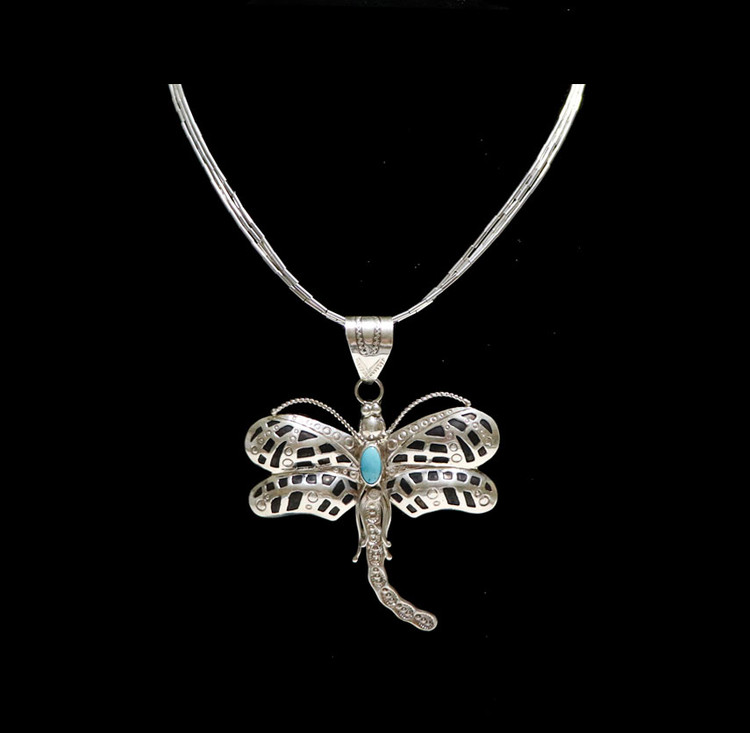 Lana Dragonfly Pendant & Hand-strung Beaded Necklace