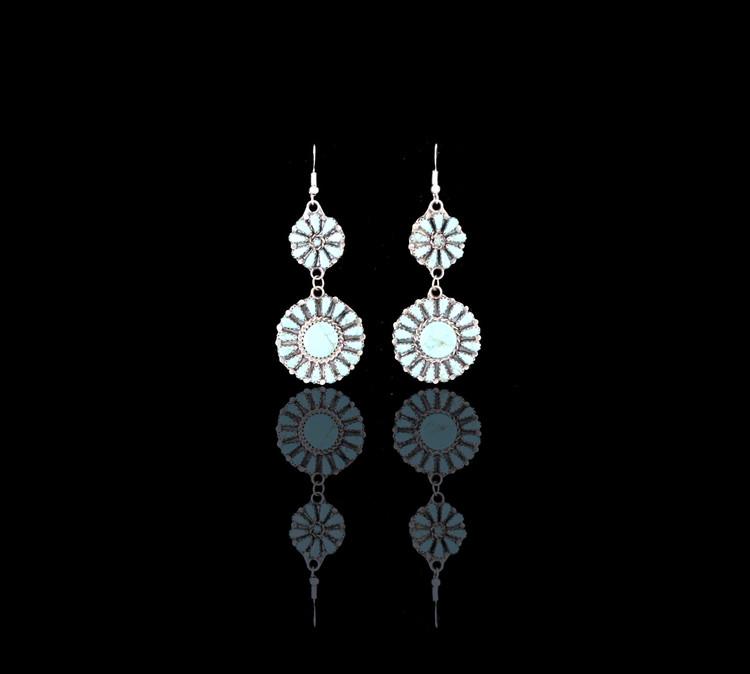 Etu Florette Turquoise & Sterling Silver Dangle Earrings