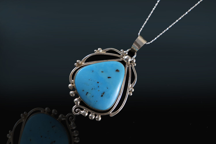 Lana Swirl Turquoise Pendant