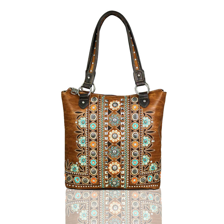 Montana West Ami Embroidered Handbag with Concealed Carry Pocket