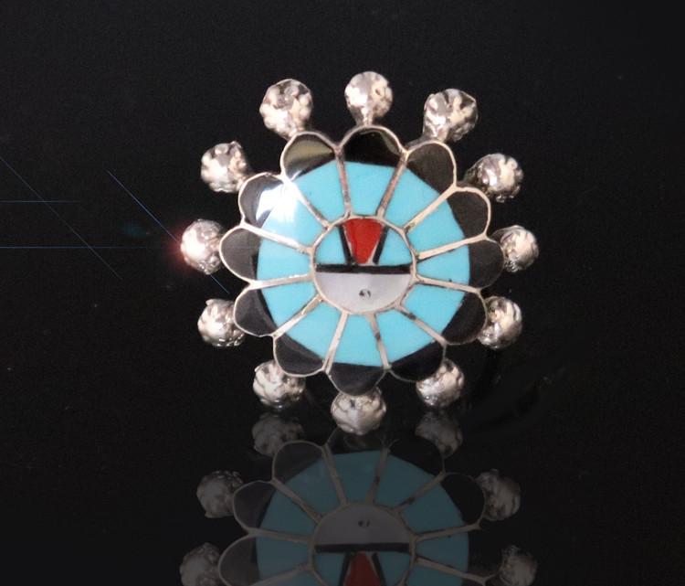 Fala Sunface Ring Turquoise Size 6.5