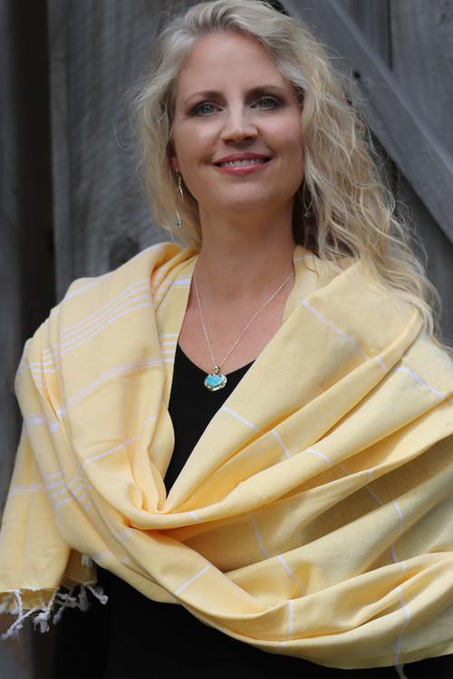 Santa Rosa Hand-Loomed Wrap Yellow