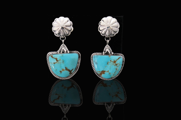 Doli Turquoise & Sterling Silver Semi-Circle Earrings