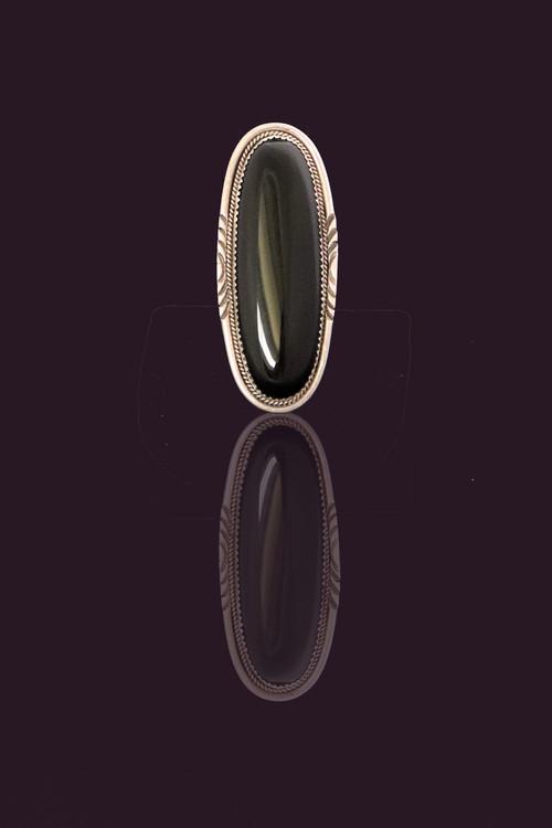 Lana Sterling Silver Oblong Ring  Size 6.5