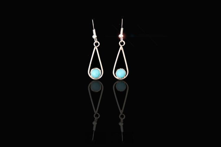 Luyu Sterling Silver Teardrop Loop Earrings