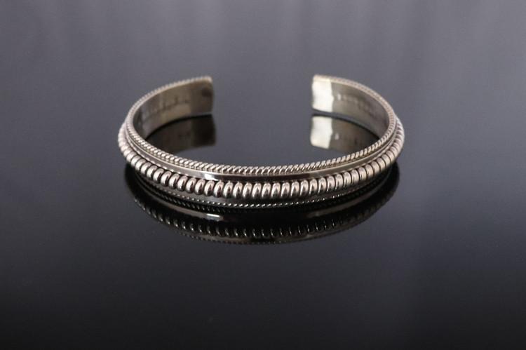 Haba Sterling Silver Rope Cuff Bracelet
