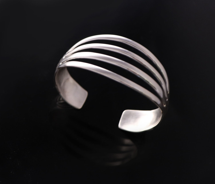 Aiyana Sterling Silver Four Tier Cuff Bracelet