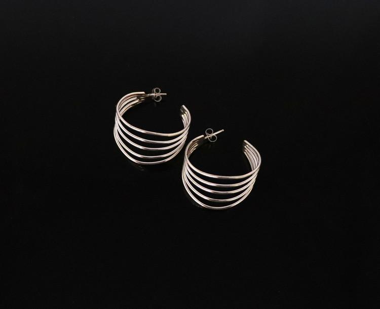 Aiyana Sterling Silver Multi-Stand Earrings