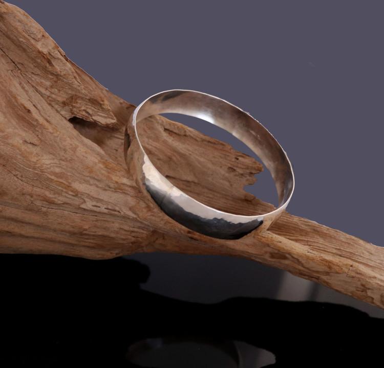 Aiyana Hammered Sterling Silver Bangle Bracelet
