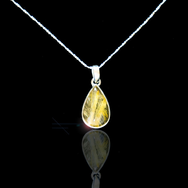 Golden Rutile Necklace