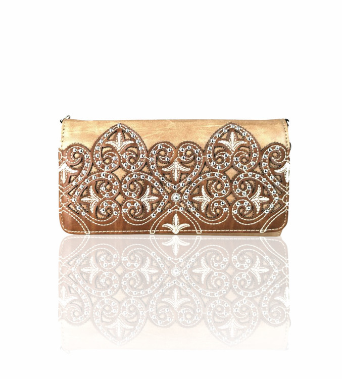 Montana West Embroidered Crossbody Wallet