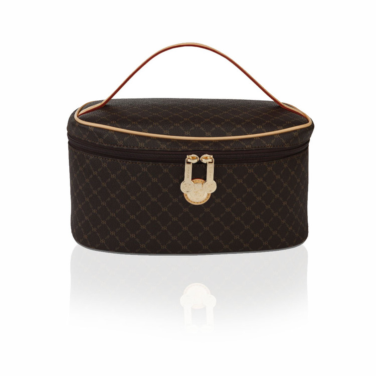 Rioni Brown Signature Cosmetic Carrier