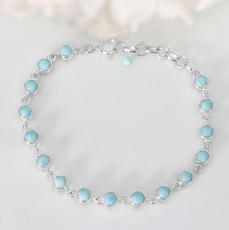 Larimar Link Bracelet Large