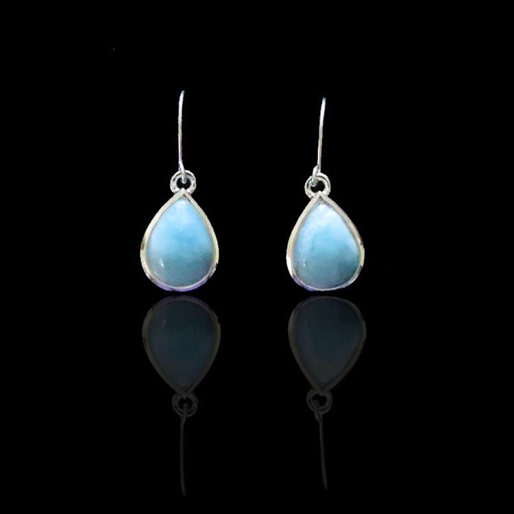 Larimar & Sterling Silver Drop Earrings