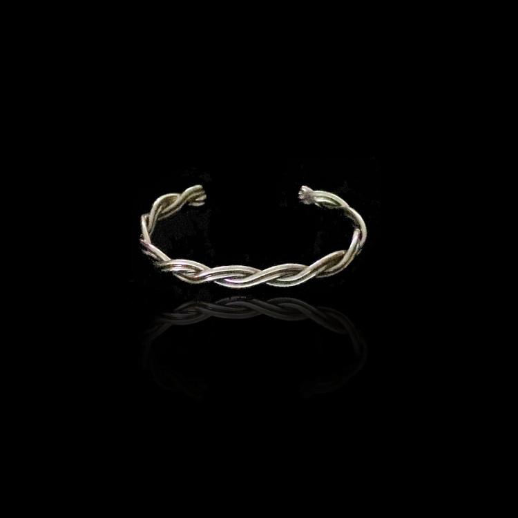 Haba Sterling Silver Twist Cuff Bracelet Infant/Toddler