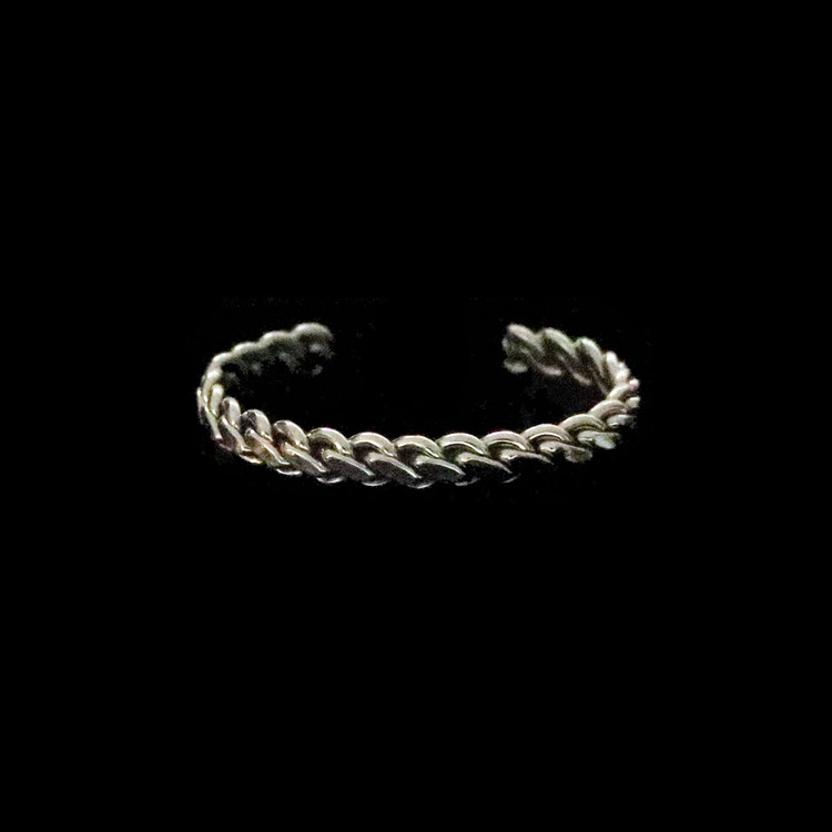 Haba Sterling Silver Chain Cuff Bracelet Infant/Toddler