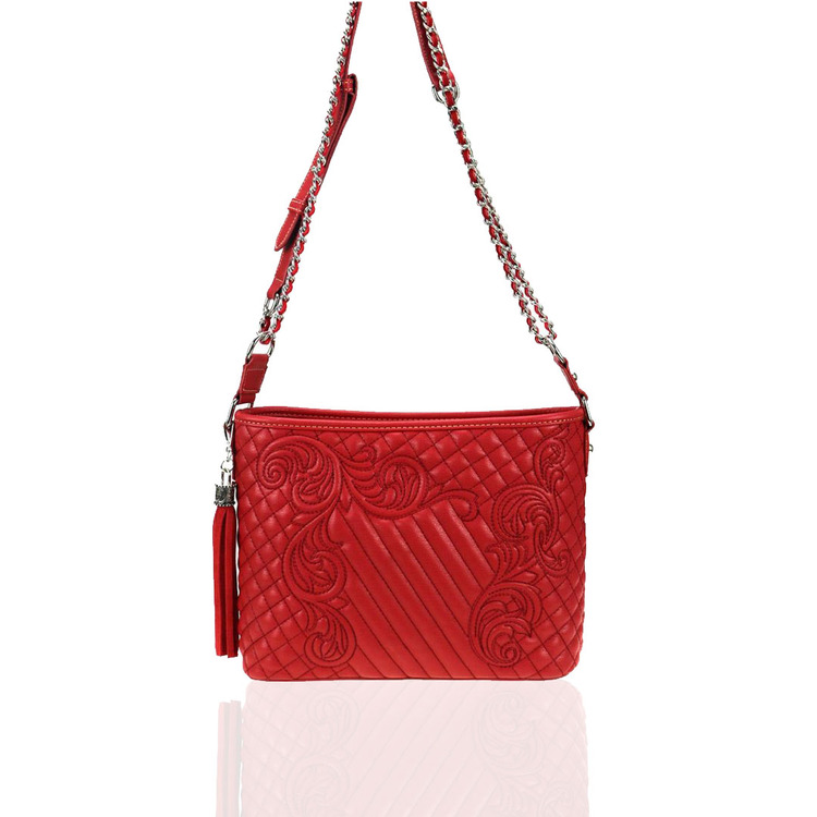 Montana West Red Embroidered Concealed Carry Crossbody Bag