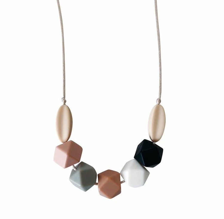 Aspen Multi-Colored  Silicone Teething Necklace
