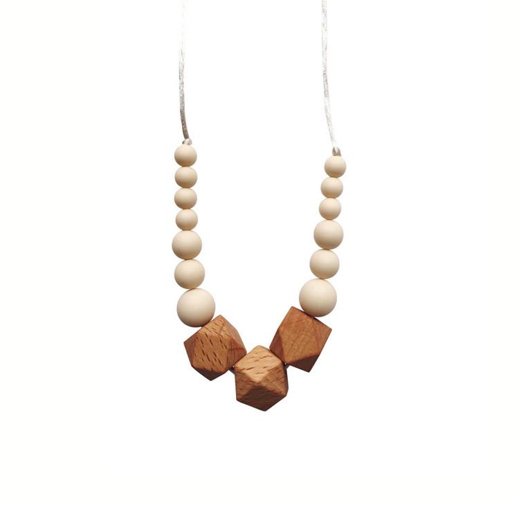 Santa Fe Silicone & Organic Wood Teething Necklace