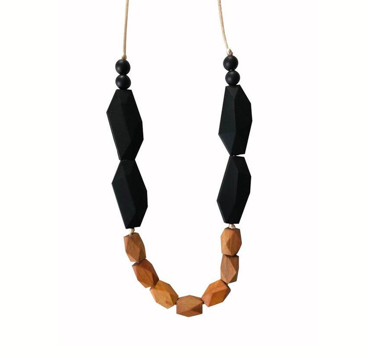 Taos Silicone & Organic Wood Teething Necklace