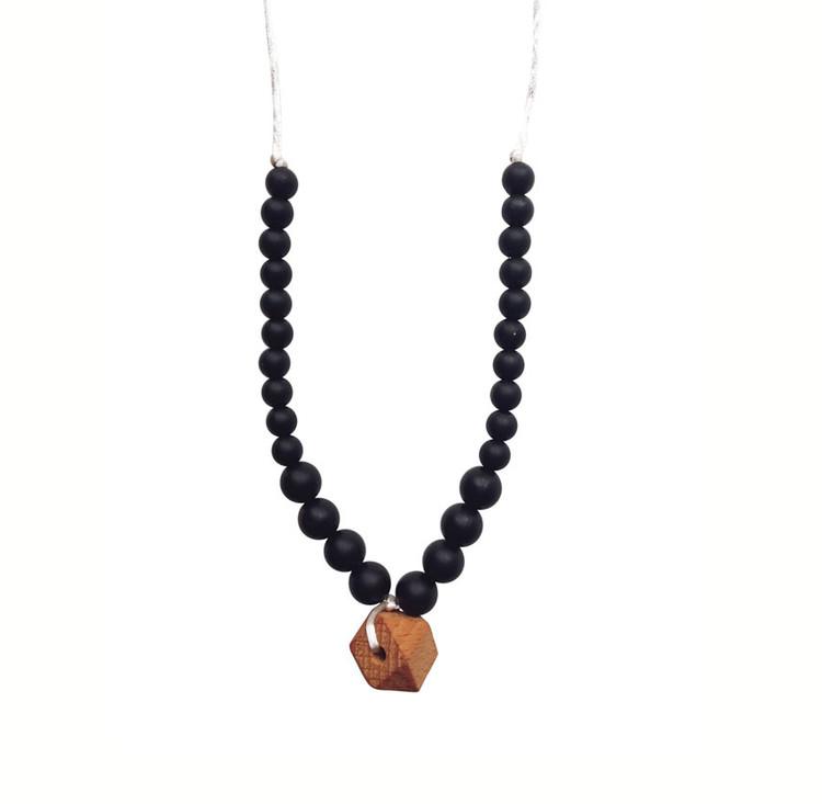 Middleton Silicone & Organic Wood Teething Necklace