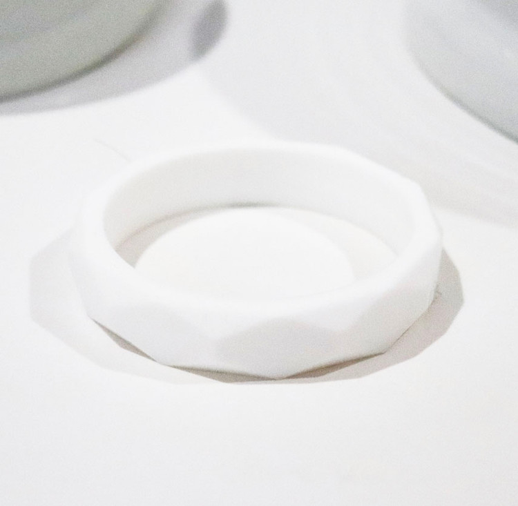 Capri Silicone Teething Bracelet - White