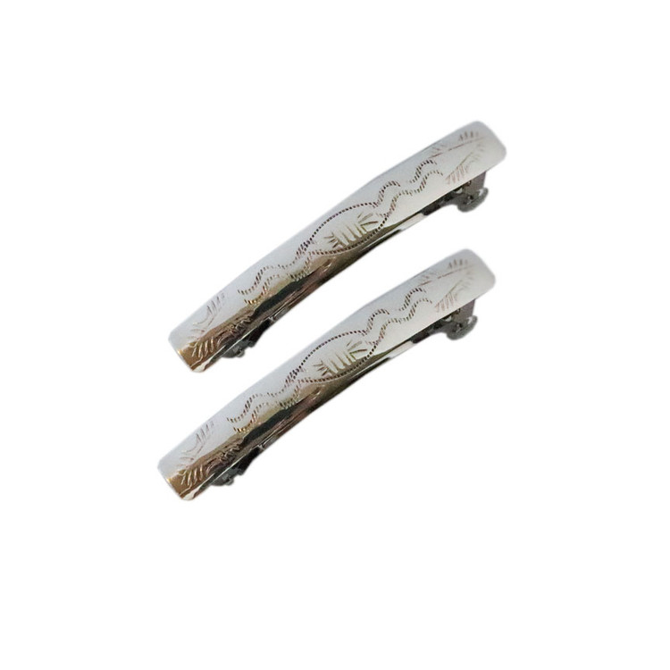 Aiyana Sterling Silver Mountain Range Barrettes